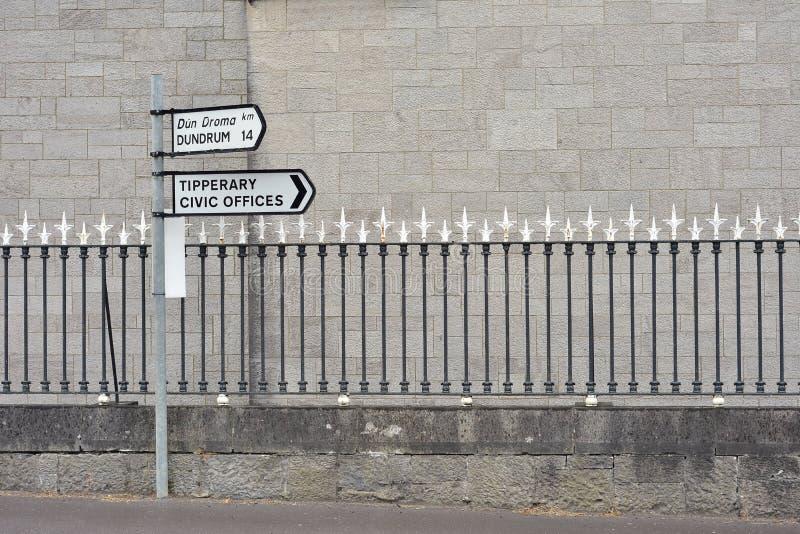 Segnale dentro Tipperary in Irlanda immagini stock libere da diritti