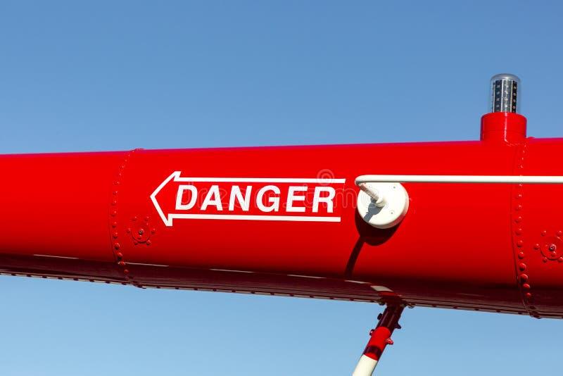 Segnale di avvertimento per elicotteri fotografie stock libere da diritti
