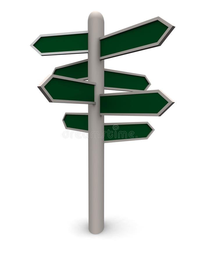 Segnale di direzione in bianco 3D illustrazione vettoriale