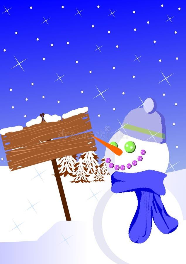 Segnale di inverno illustrazione di stock