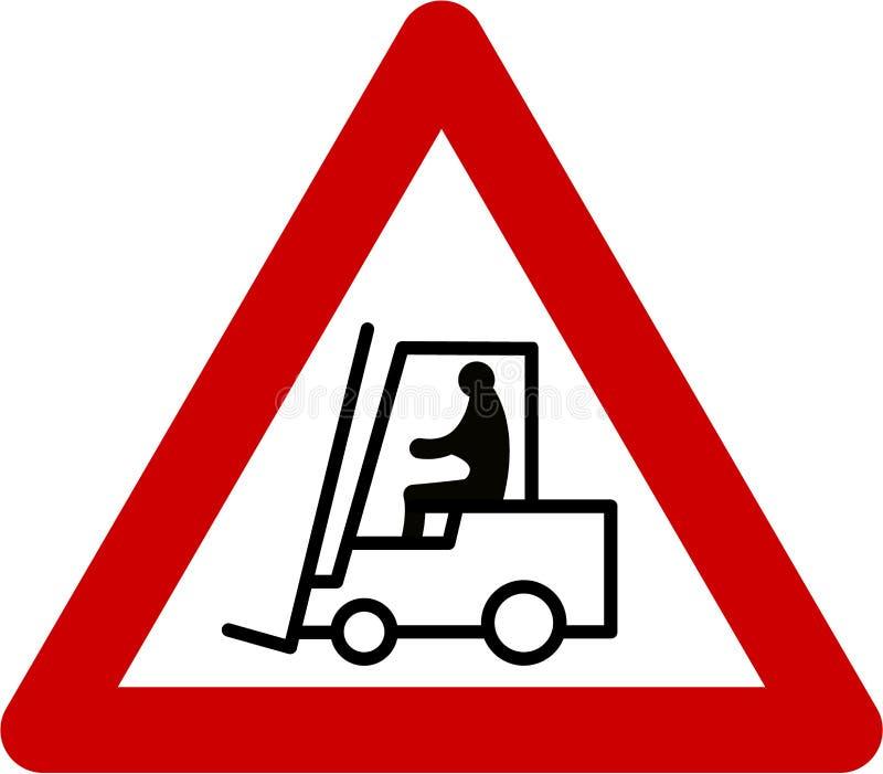 Segnale di pericolo con il carrello elevatore royalty illustrazione gratis