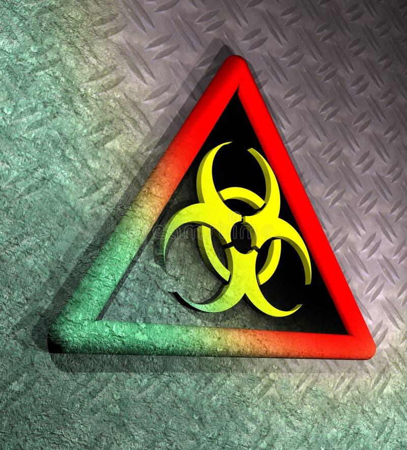 Segnale di pericolo contaminato di biohazard illustrazione di stock