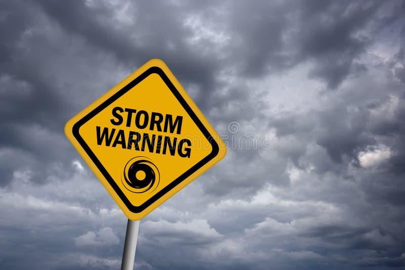 Segnale di pericolo della tempesta royalty illustrazione gratis