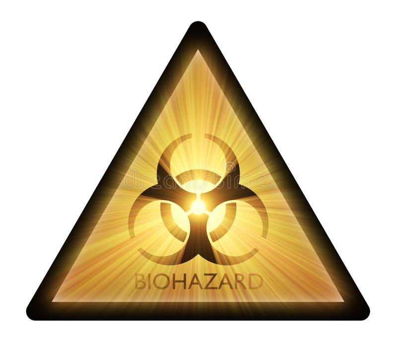 Segnale di pericolo di Biohazard   illustrazione di stock