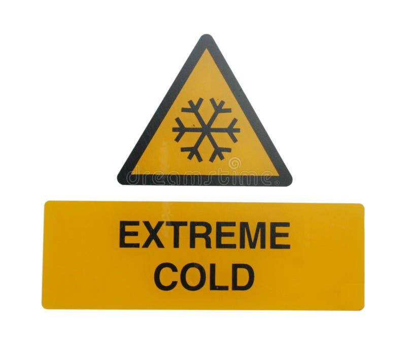 Segnale di pericolo freddo estremo immagini stock libere da diritti
