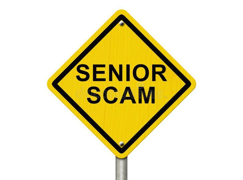 Segnale di pericolo senior di Scam immagini stock libere da diritti