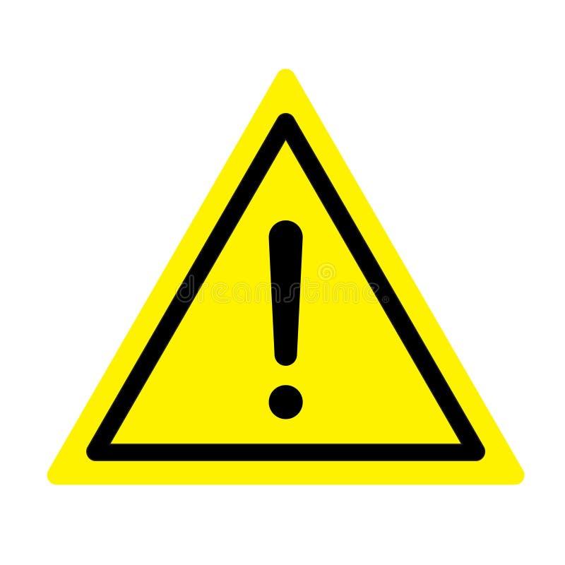 Segnale di pericolo Un simbolo di esclamazione illustrazione di stock
