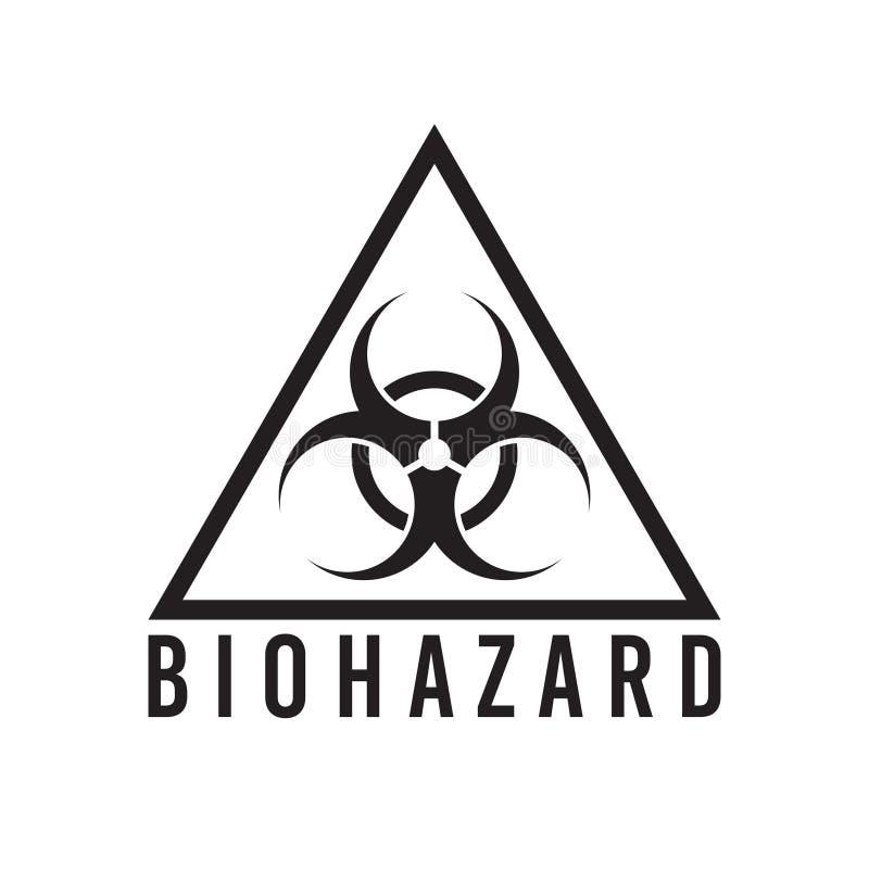 Segnale di rischio biologico di vettore isolato illustrazione di stock