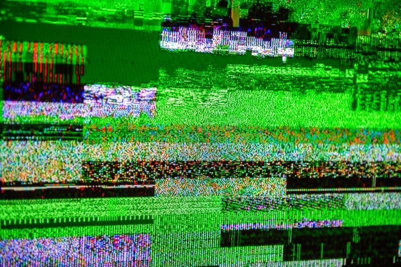 Segnale Digital Video Broadcasting del dbvt del segnale di rumore della TV cattivo immagini stock