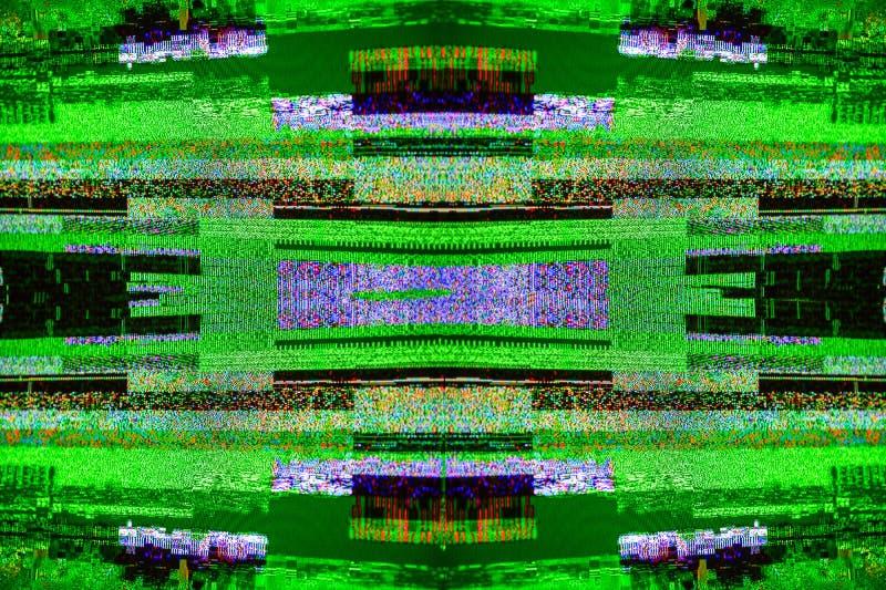 Segnale Digital Video Broadcasting del dbvt del segnale di rumore della TV cattivo fotografia stock libera da diritti