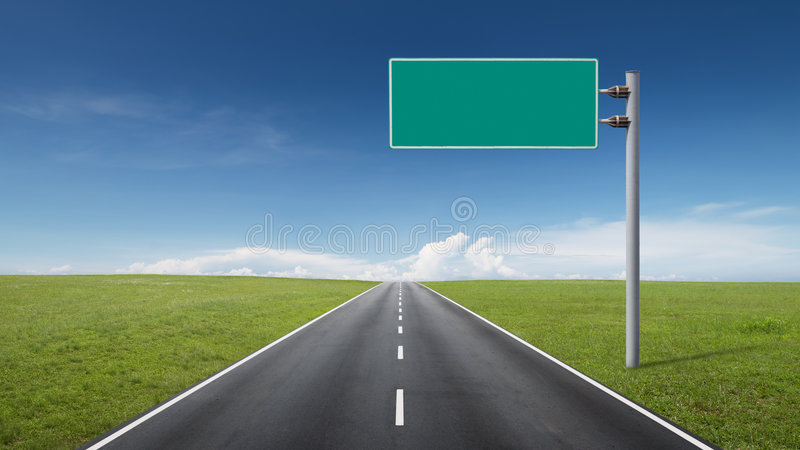 Segnale stradale immagini stock