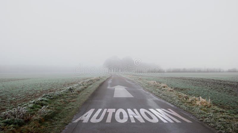 Segnale stradale ad autonomia fotografia stock