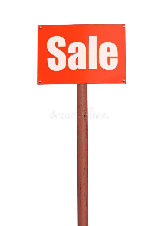Segnale stradale con l'iscrizione di vendita fotografia stock