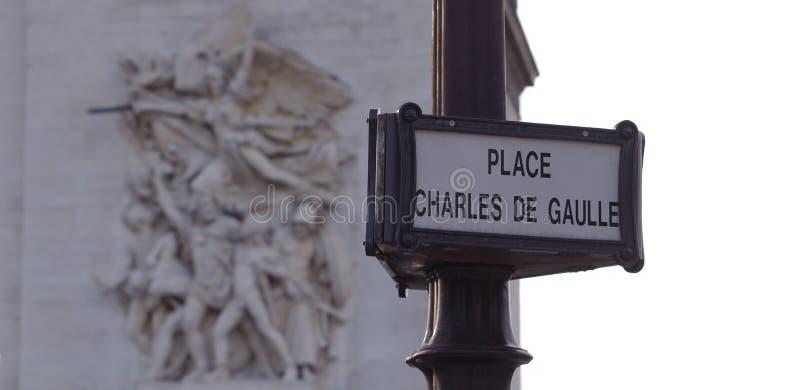 Segnale stradale del boulevard di Champs-Elysees fotografia stock libera da diritti