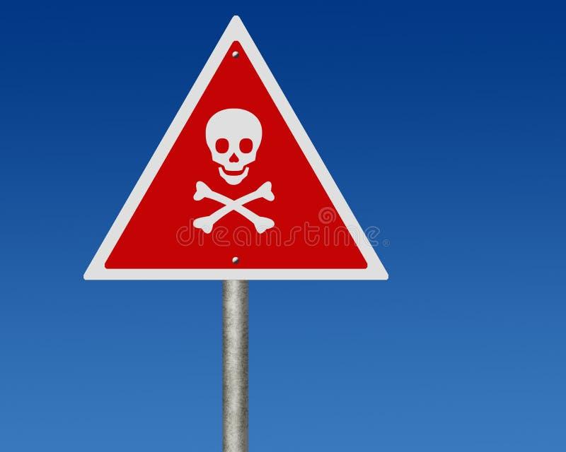 Segnale stradale del contrassegno del pericolo illustrazione di stock