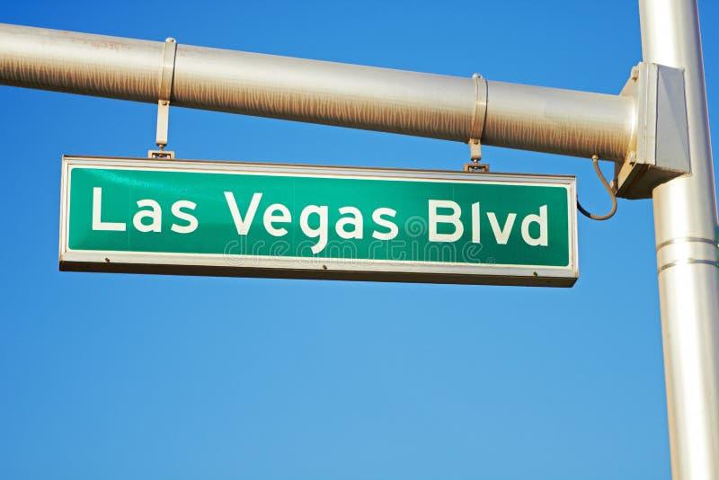 Segnale stradale del Las Vegas Boulevard - la striscia immagine stock libera da diritti