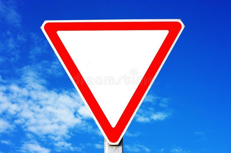 Segnale stradale del triangolo fotografie stock