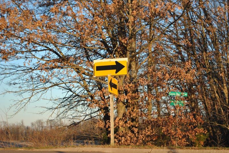 Segnale stradale della freccia fotografia stock libera da diritti