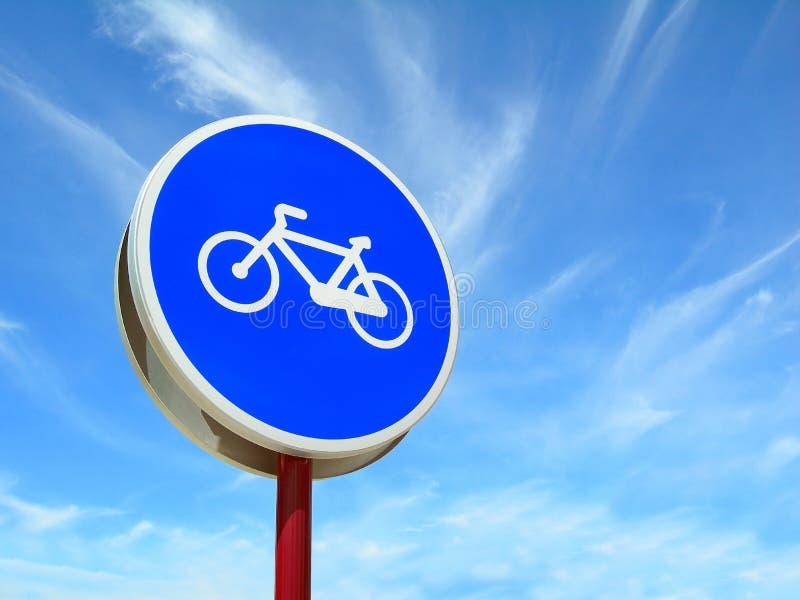 Segnale stradale della pista ciclabile immagini stock