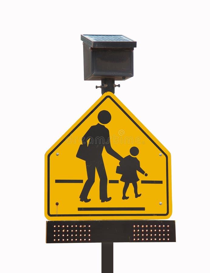 Segnale stradale della scuola fotografie stock libere da diritti