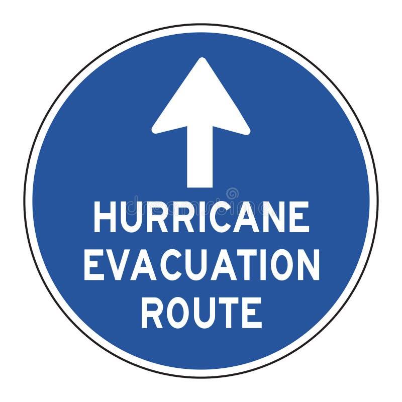 Segnale stradale della via di fuga di uragano royalty illustrazione gratis
