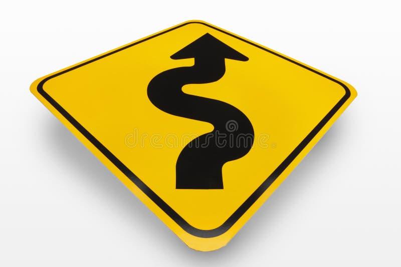Segnale stradale delle curve avanti fotografie stock