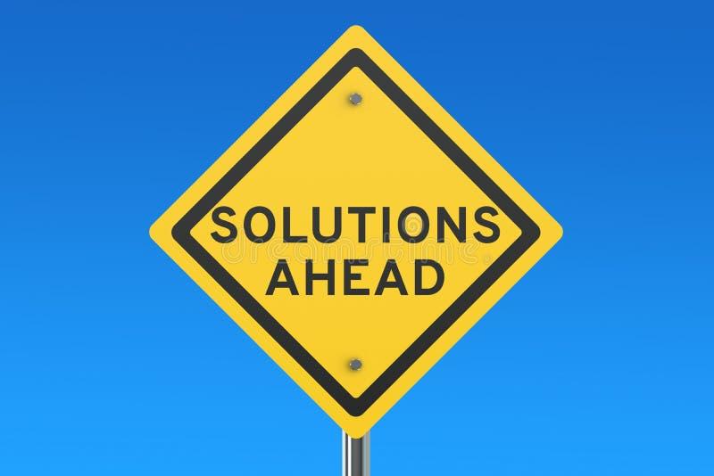 Segnale stradale delle soluzioni avanti illustrazione di stock
