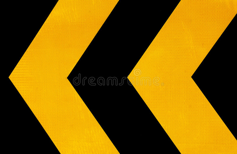 Segnale stradale di attenzione immagine stock