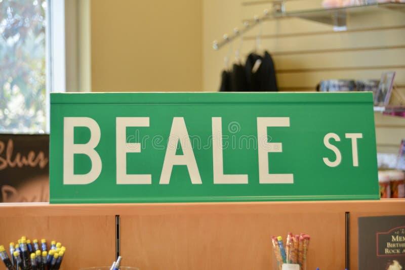 Segnale stradale di Beale immagine stock
