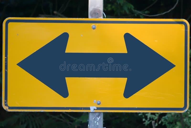 Segnale stradale di decisione immagini stock libere da diritti