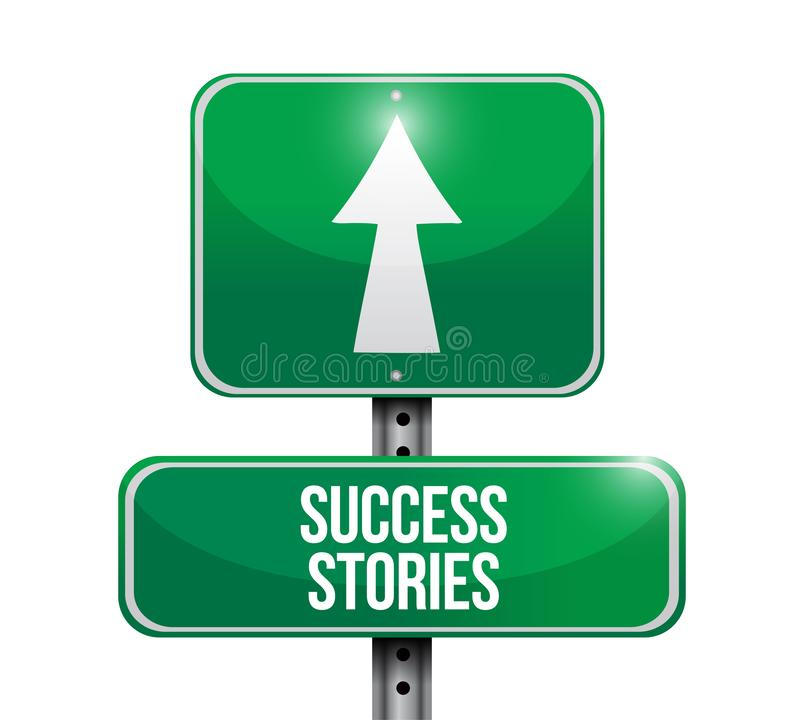 segnale stradale di esempi di successo immagine stock libera da diritti
