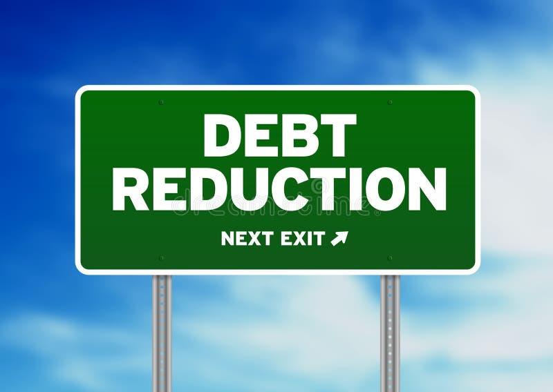 Segnale stradale di riduzione di debito royalty illustrazione gratis