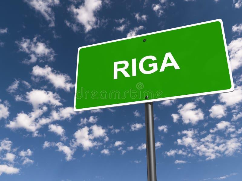 Segnale stradale di Riga illustrazione di stock