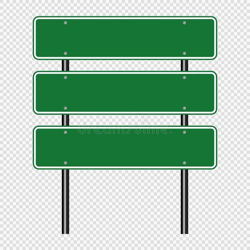 segnale stradale di verde di simbolo, segni del bordo della strada isolati su fondo trasparente Illustrazione ENV 10 di vettore royalty illustrazione gratis