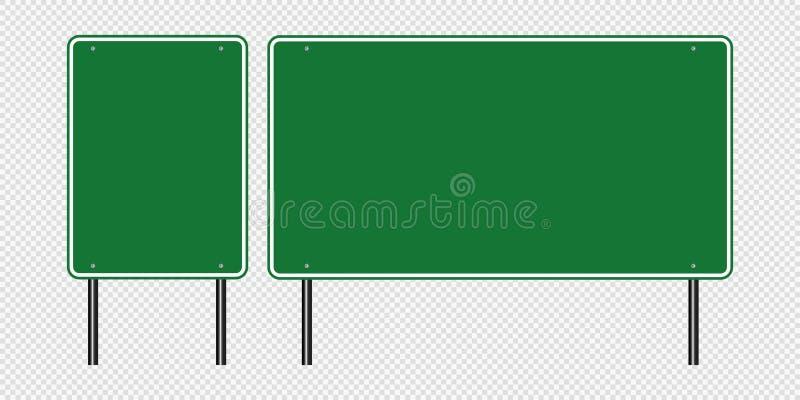 segnale stradale di verde di simbolo, segni del bordo della strada isolati su fondo trasparente Illustrazione ENV 10 di vettore illustrazione vettoriale