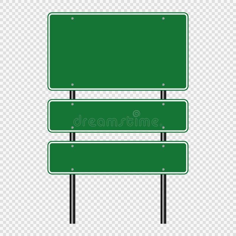 segnale stradale di verde di simbolo, segni del bordo della strada isolati su fondo trasparente Illustrazione ENV 10 di vettore illustrazione di stock