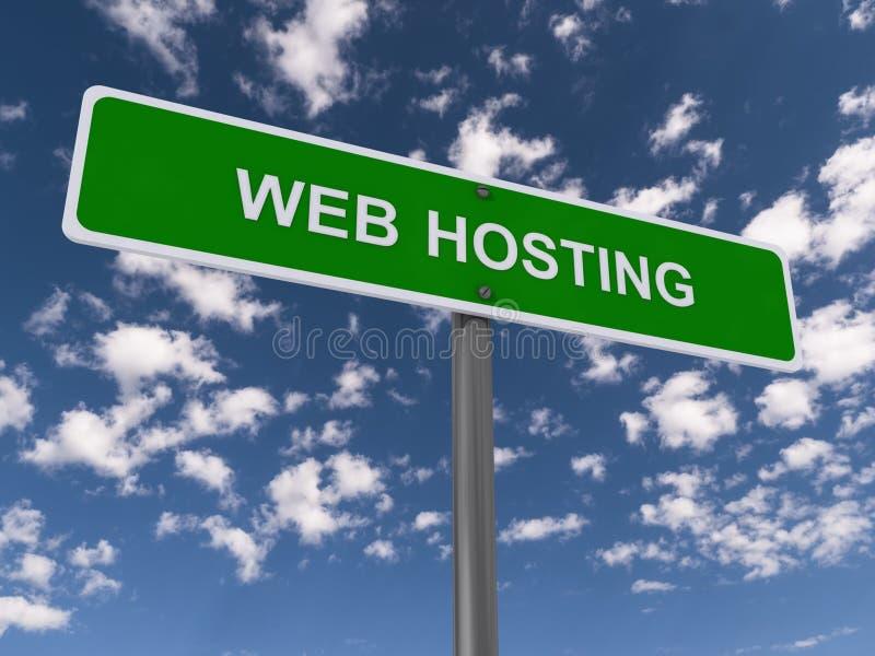 Segnale stradale di web hosting illustrazione vettoriale
