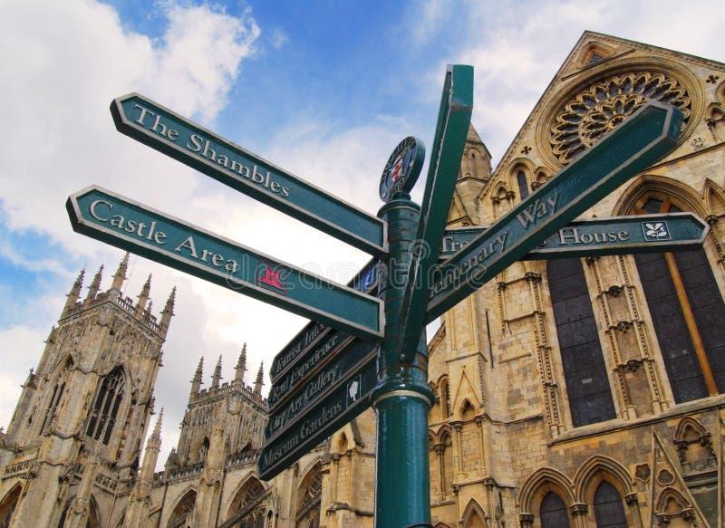 Segnale stradale di York fotografie stock libere da diritti