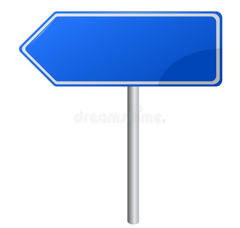 Segnale stradale direzionale blu illustrazione vettoriale