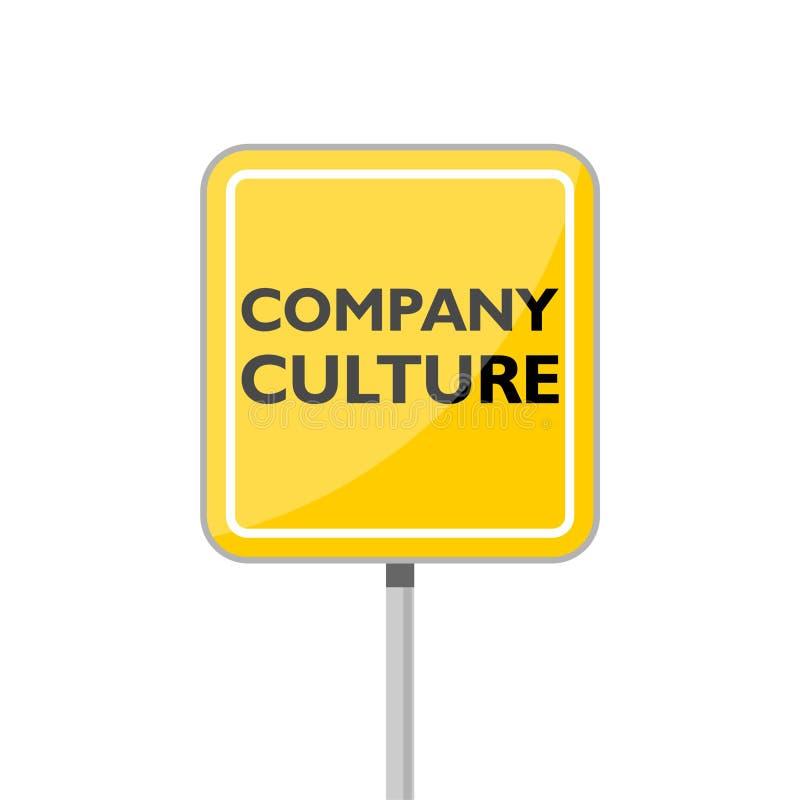 Segnale stradale giallo moderno della cultura di societ? royalty illustrazione gratis