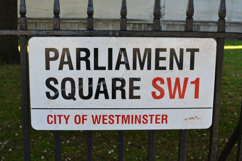Segnale stradale, Londra fotografia stock libera da diritti