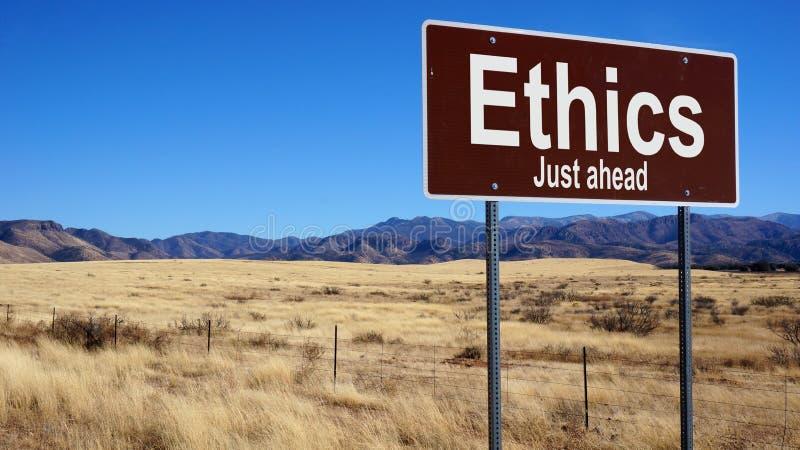 Segnale stradale marrone di etica immagine stock libera da diritti