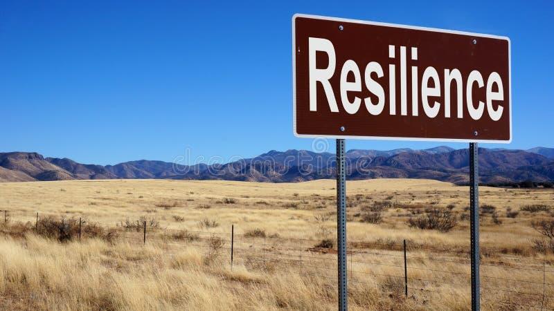 Segnale stradale marrone di resilienza immagini stock libere da diritti