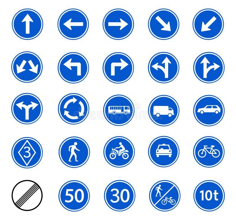 Segnale stradale regolatore illustrazione vettoriale