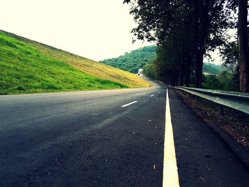 Segnale stradale ripido della collina del grado sulla strada fotografie stock libere da diritti