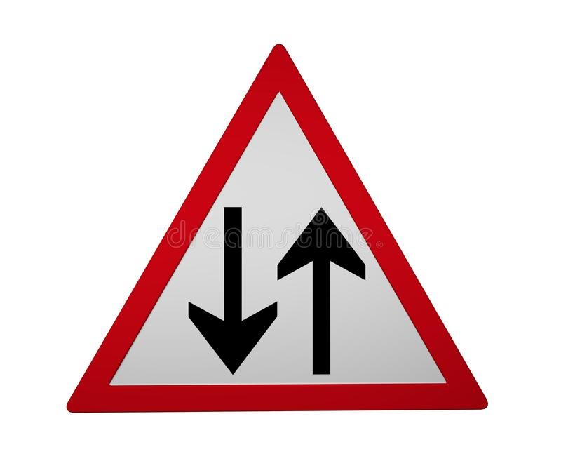 Segnale stradale: traffico immagini stock