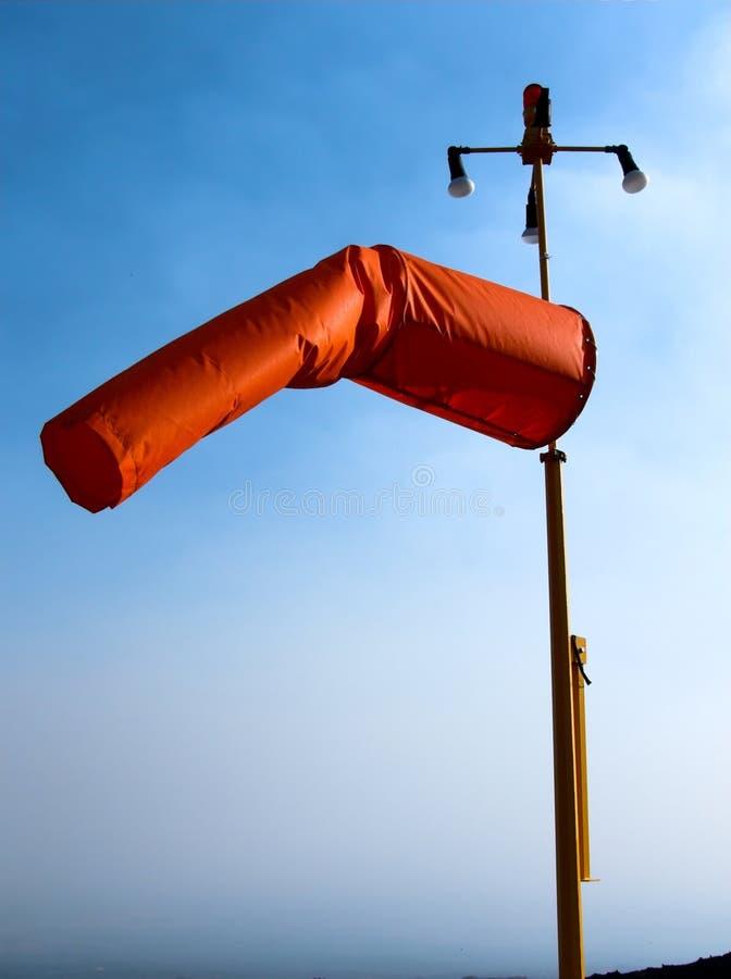 Segnaletic Hubschrauber-Landeplatz der Windsocke lizenzfreies stockbild