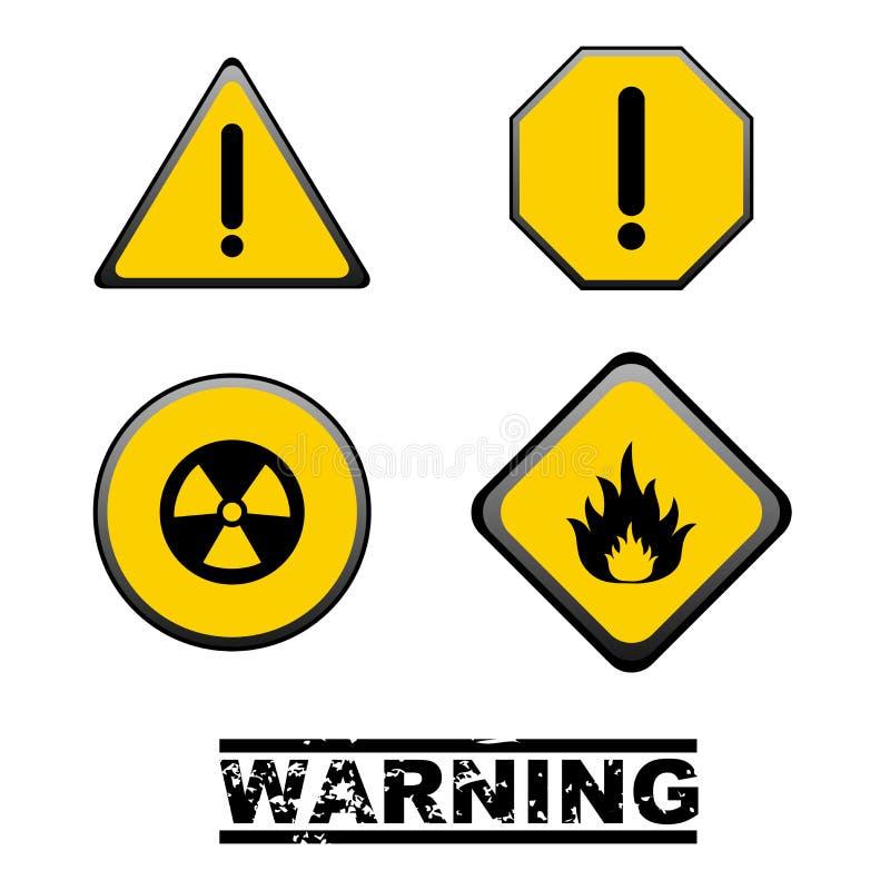 Segnali di pericolo illustrazione di stock