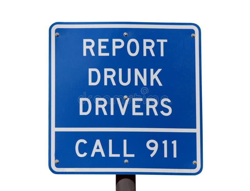Segnali a driver ubriachi il segno fotografia stock