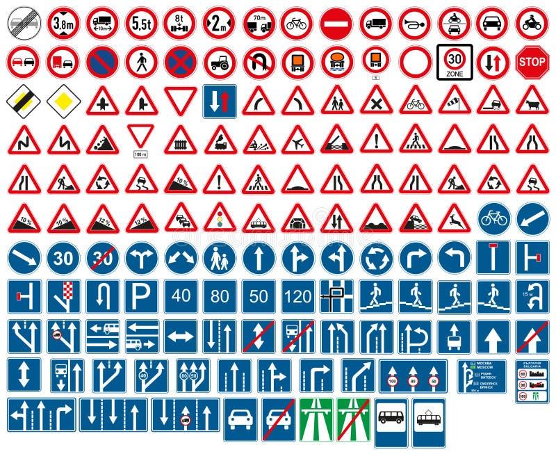 Segnali stradali royalty illustrazione gratis